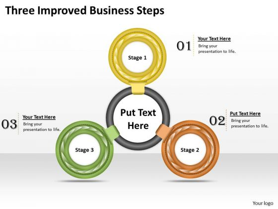 Business Strategy Concepts Three Improved Steps Strategic Planning Ppt Slide