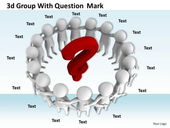 Business Strategy Consultant 3d Group With Question Mark Adaptable Concepts