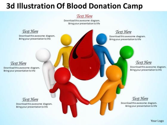 Business Strategy Consultant 3d Illustration Of Blood Donation Camp Adaptable Concepts