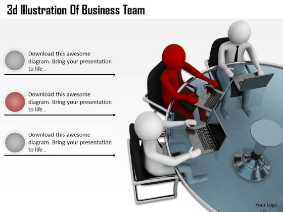 Business Strategy Consultant 3d Illustration Of Team Adaptable Concepts