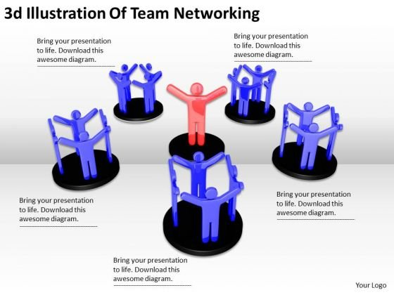 Business Strategy Consultant 3d Illustration Of Team Networking Concepts