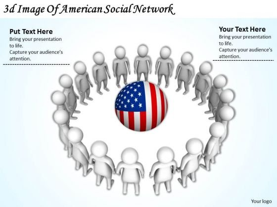 Business Strategy Consultant 3d Image Of American Social Network Concepts
