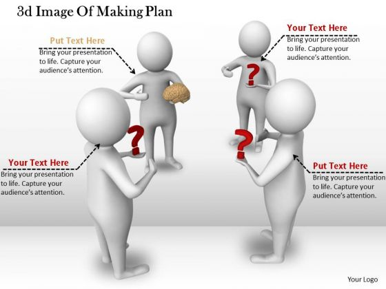 Business Strategy Consultant 3d Image Of Making Plan Concept Statement