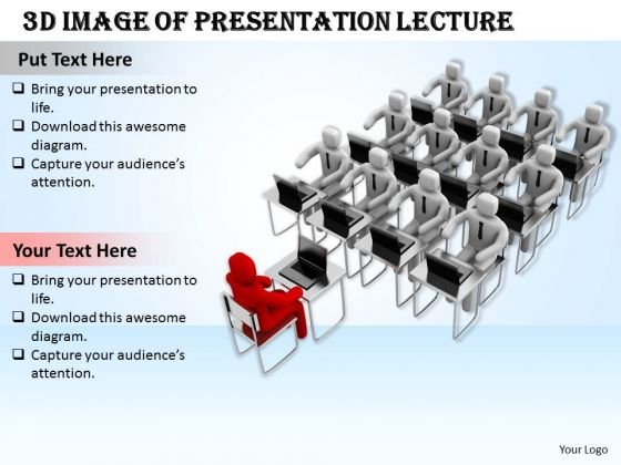 Business Strategy Consultant 3d Image Of Presentation Lecture Concept Statement