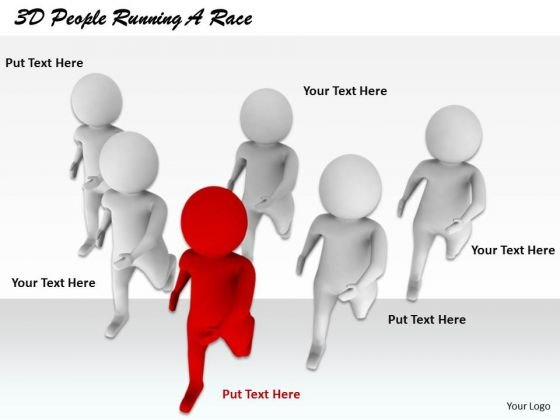 Business Strategy Consultant 3d People Running Race Characters