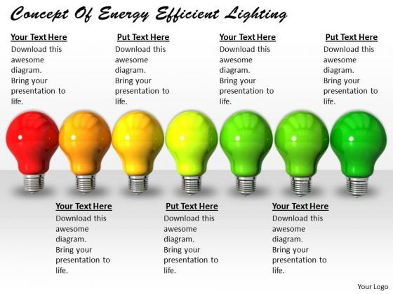 Business Strategy Consultant Concept Of Energy Efficient Lighting Images