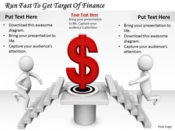 Business Strategy Consultant Run Fast To Get Target Of Finance 3d Character Models