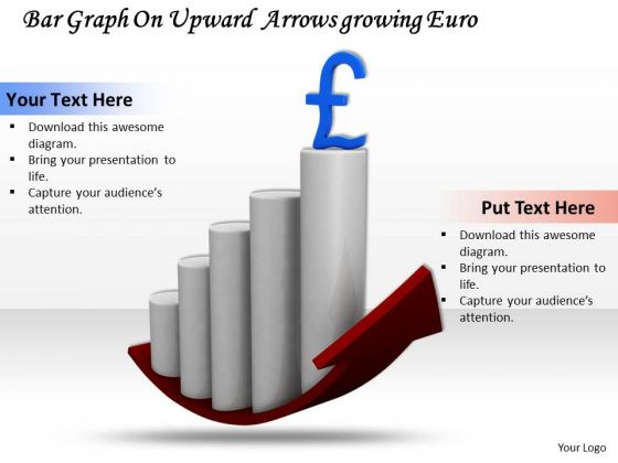 Business Strategy Consultants Bar Graph Upward Arrow Growing Euro Pictures