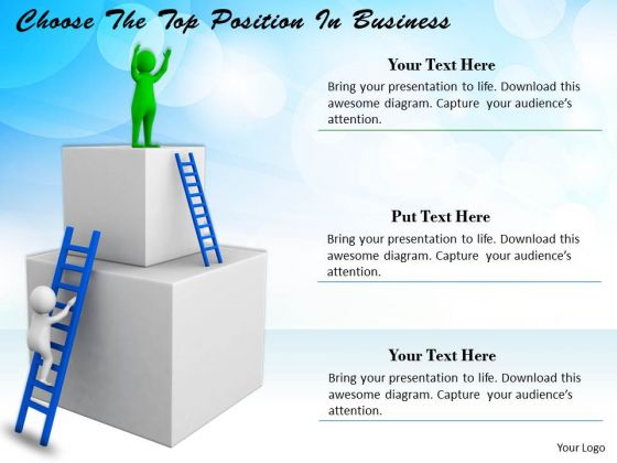Business Strategy Consultants Choose The Top Position 3d Character Modeling