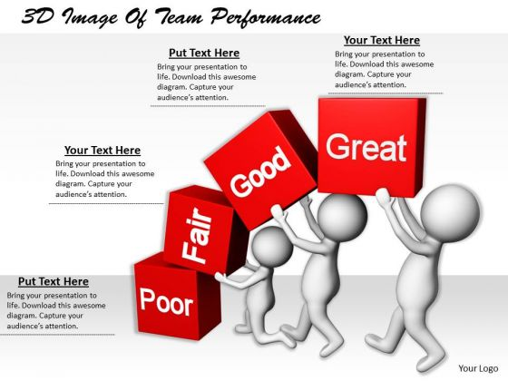 Business Strategy Consulting 3d Image Of Team Performance Character