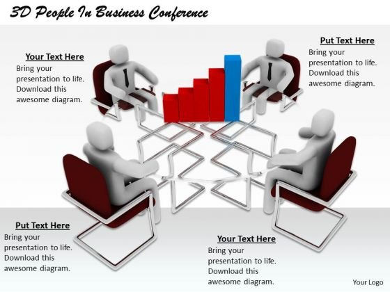 Business Strategy Consulting 3d People Conference Adaptable Concepts