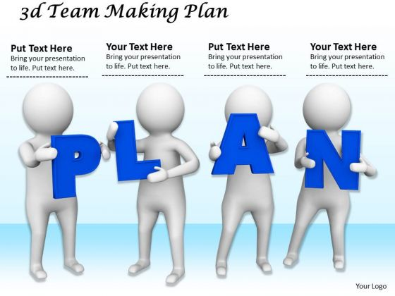 Business Strategy Consulting 3d Team Making Plan Character Modeling