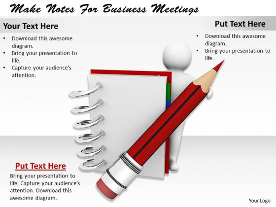 Business Strategy Consulting Make Notes For Meetings 3d Characters