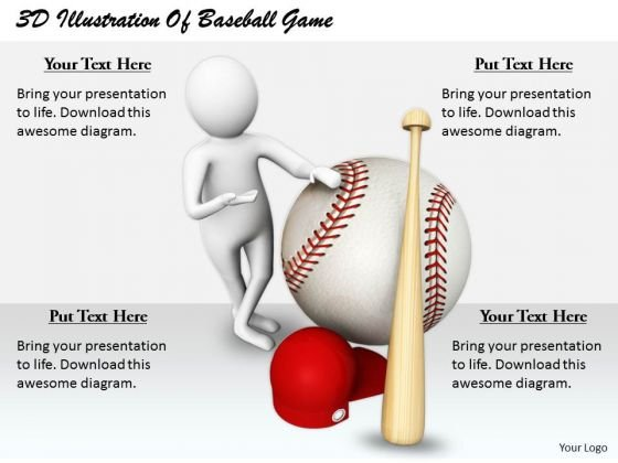 Business Strategy Development 3d Illustration Of Baseball Game Concept Statement