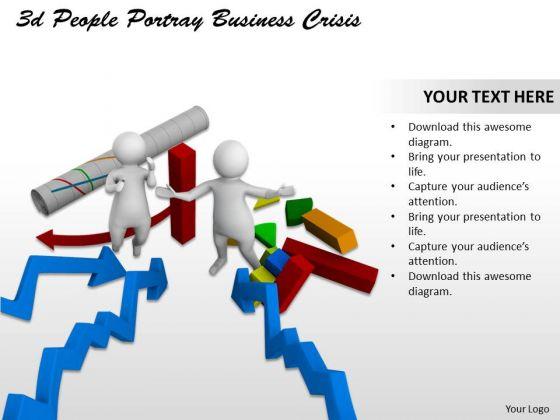 Business Strategy Development 3d People Portray Crisis Concept Statement