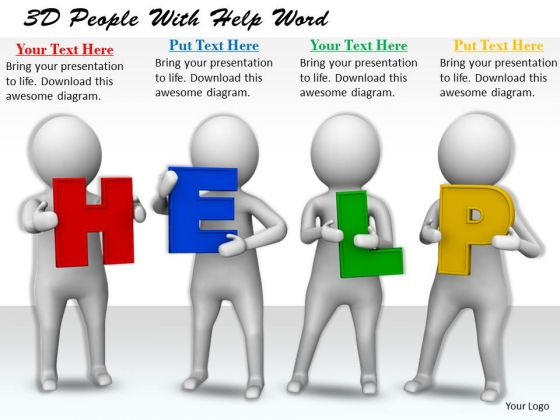 Business Strategy Development 3d People With Help Word Characters