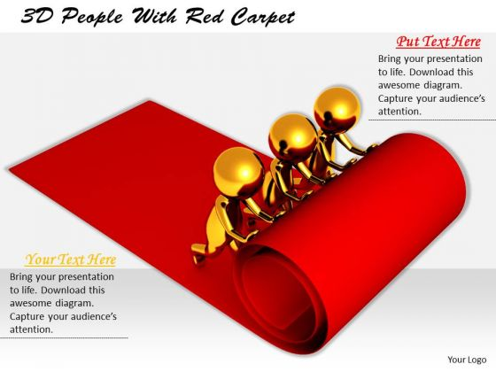 Business Strategy Development 3d People With Red Carpet Characters