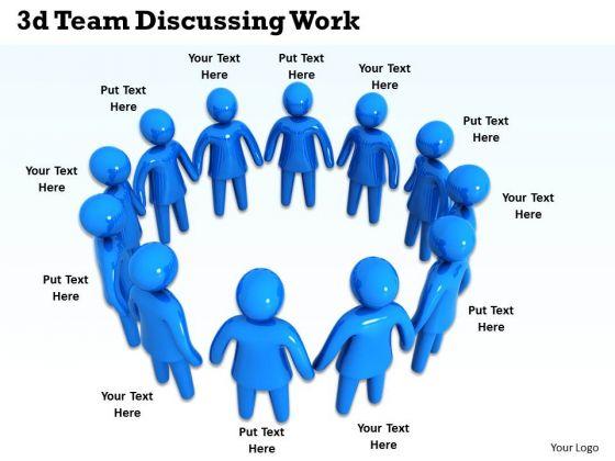 Business Strategy Development 3d Team Discussing Work Concept Statement