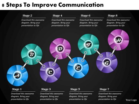 Business Strategy Development 8 Steps To Improve Communication Strategic Planning Model Ppt Slide