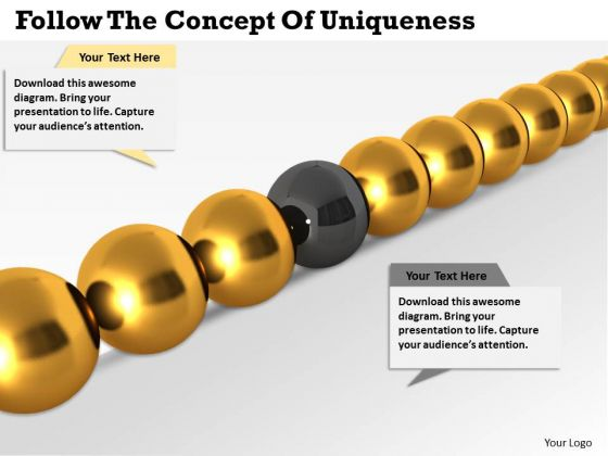 Business Strategy Development Follow The Concept Of Uniqueness Success Images