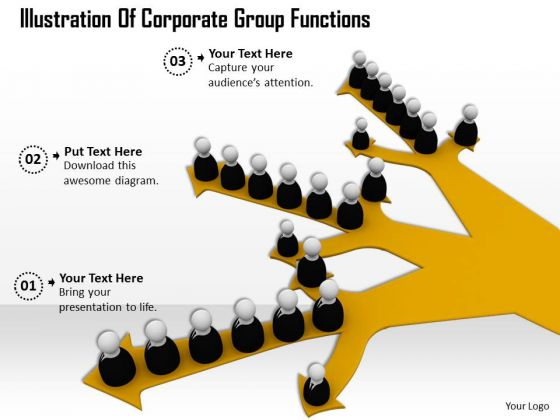 Business Strategy Development Illustration Of Corporate Group Functions Images And Graphics
