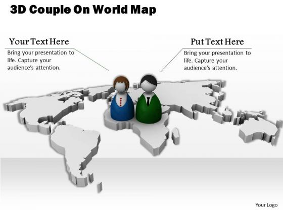 Business Strategy Examples 3d Couple On World Map Images
