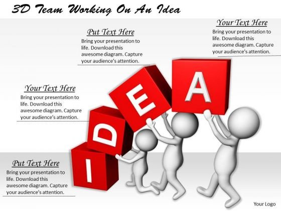 Business Strategy Examples 3d Team Working On An Idea Adaptable Concepts