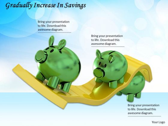 Business Strategy Examples Gradually Increase Savings Success Images
