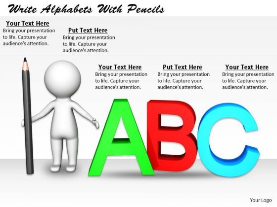Business Strategy Examples Write Alphabets With Pencils Basic Concepts