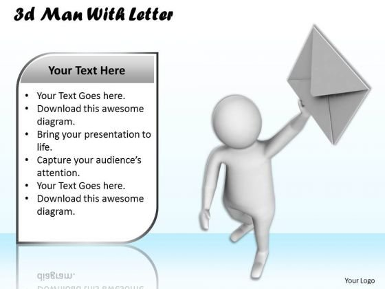 Business Strategy Execution 3d Man With Letter Concepts