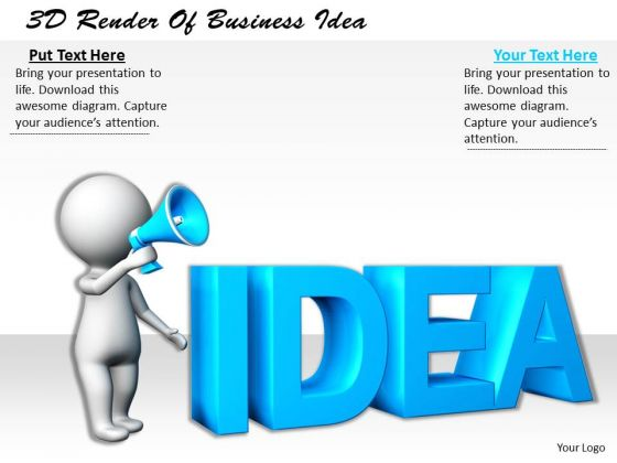 Business Strategy Execution 3d Render Of Idea Character Models