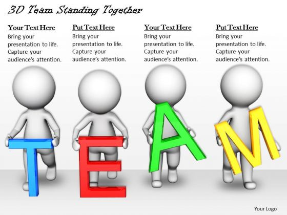Business Strategy Execution 3d Team Standing Together Concept Statement