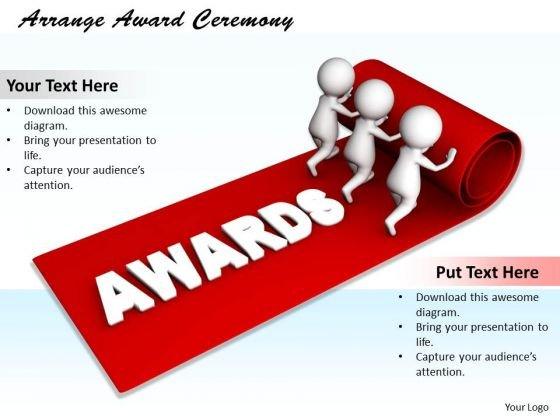 Business Strategy Execution Arrange Award Ceremony 3d Characters