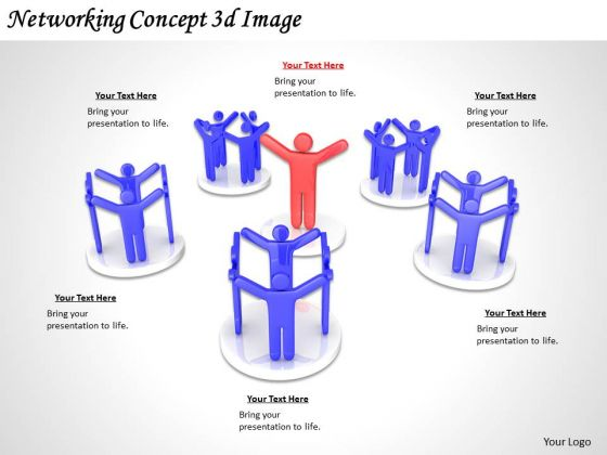 Business Strategy Execution Networking Concept 3d Image Adaptable Concepts
