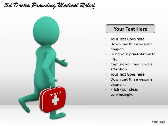 Business Strategy Formulation 3d Doctor Providing Medical Relief Character Modeling