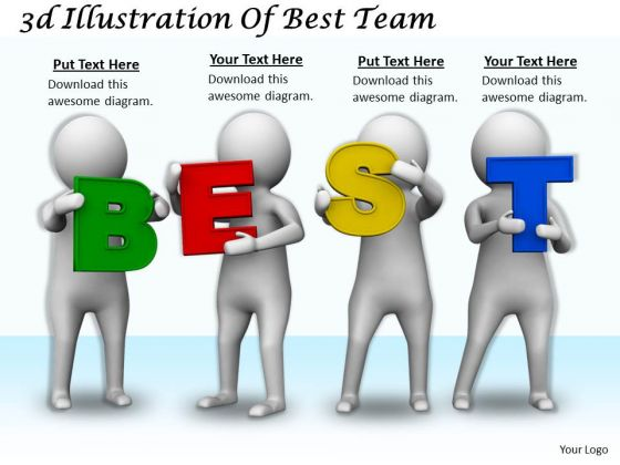 Business Strategy Formulation 3d Illustration Of Best Team Character Models