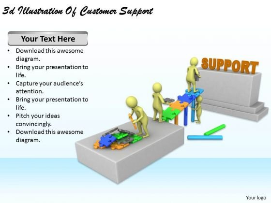 Business Strategy Formulation 3d Illustration Of Customer Support Concept Statement