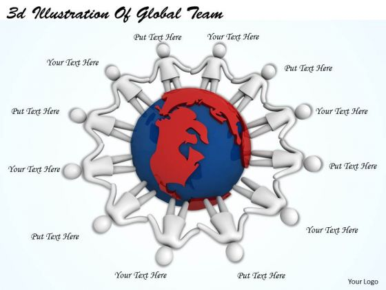 Business Strategy Formulation 3d Illustration Of Global Team Concept Statement