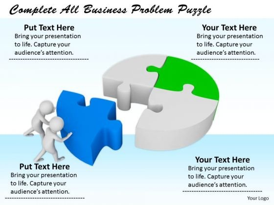 business strategy formulation complete all problem puzzle concept, Modern powerpoint
