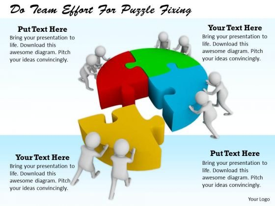 Business Strategy Formulation Do Team Effort Puzzle Fixing Concept Statement