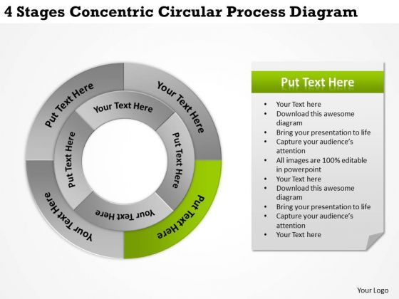 Business Strategy Implementation Circular Process Diagram Company
