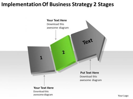 Business Strategy Innovation 2 Stages Ppt How To Do Plan PowerPoint Slides