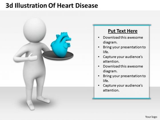 Business Strategy Innovation 3d Illustration Of Heart Disease Character