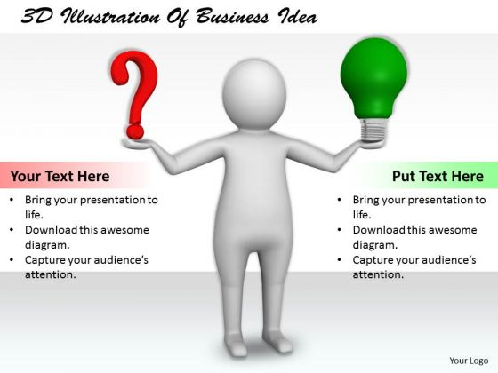Business Strategy Innovation 3d Illustration Of Idea Basic Concepts