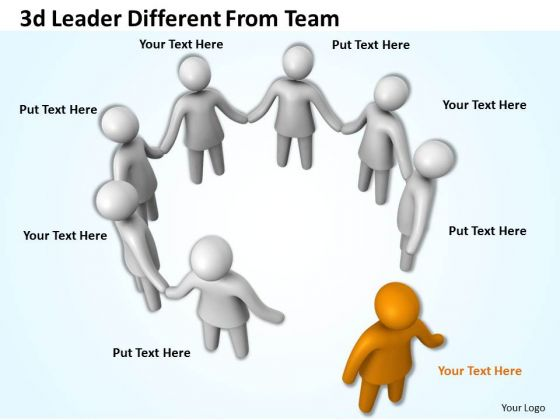 Business Strategy Innovation 3d Leader Different From Team Adaptable Concepts