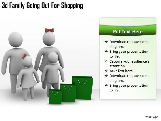Business Strategy Model 3d Family Going Out For Shopping Character Modeling