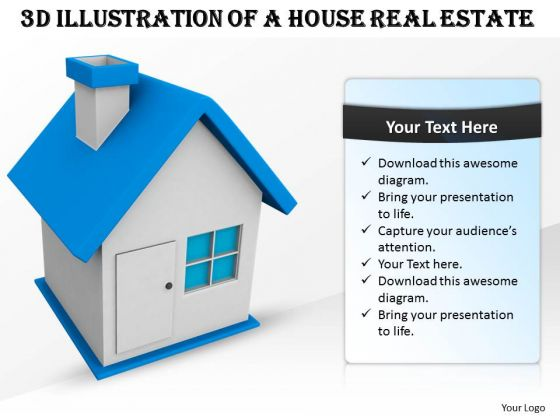 Business Strategy Model 3d Illustration Of House Real Estate Stock Images