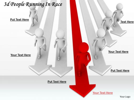 Business Strategy Model 3d People Running Race Concepts