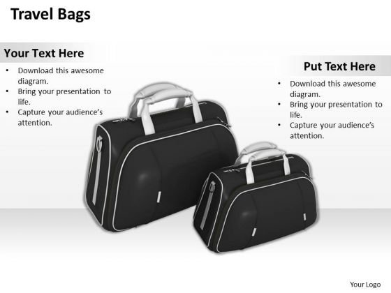 Business Strategy Model Travel Bags Icons
