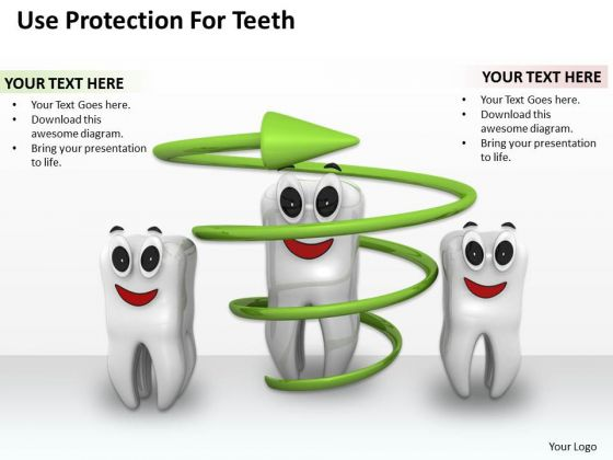 Business Strategy Model Use Protection For Teeth Icons